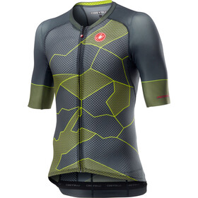 Castelli Climber's 3.0 Maillot Manches courtes Homme, dark gray/yellow fluo